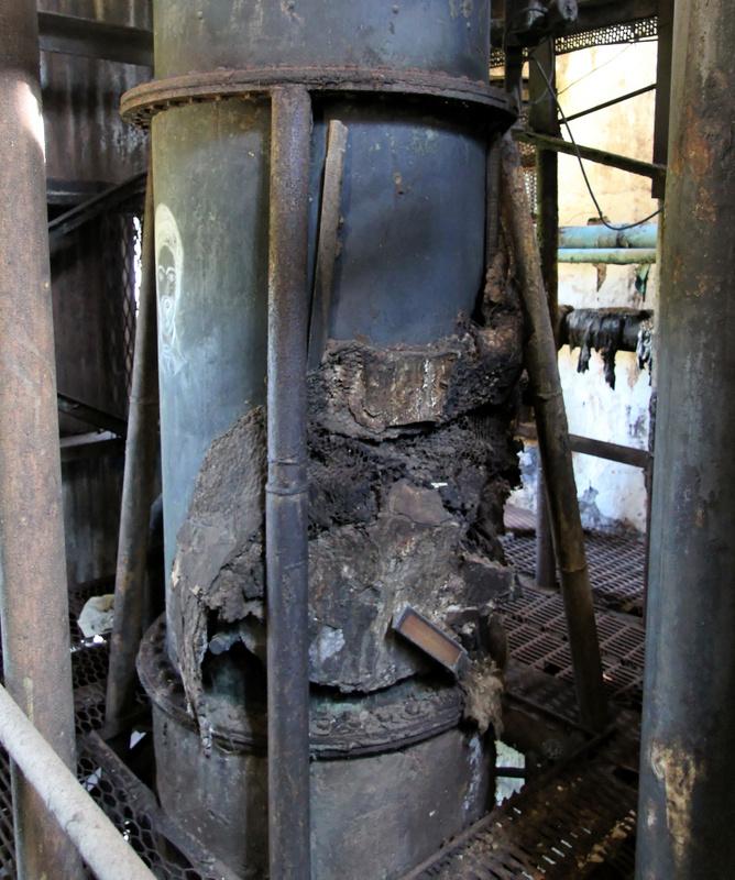 Column still damage at Long Pond distillery