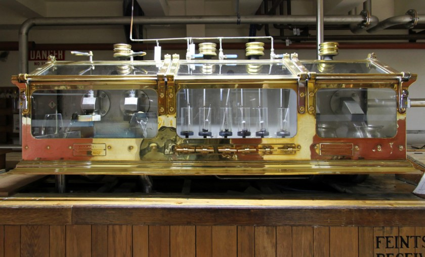 Spirit safe at Lagavulin