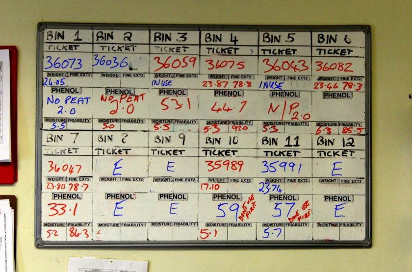 Tracking board at Lagavulin