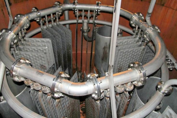 Pot still steam heating element at Bowmore