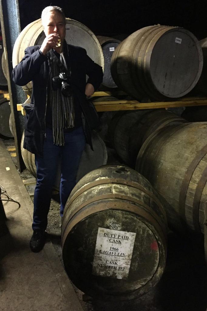 Drinking 50 year old whisky at Lagavulin