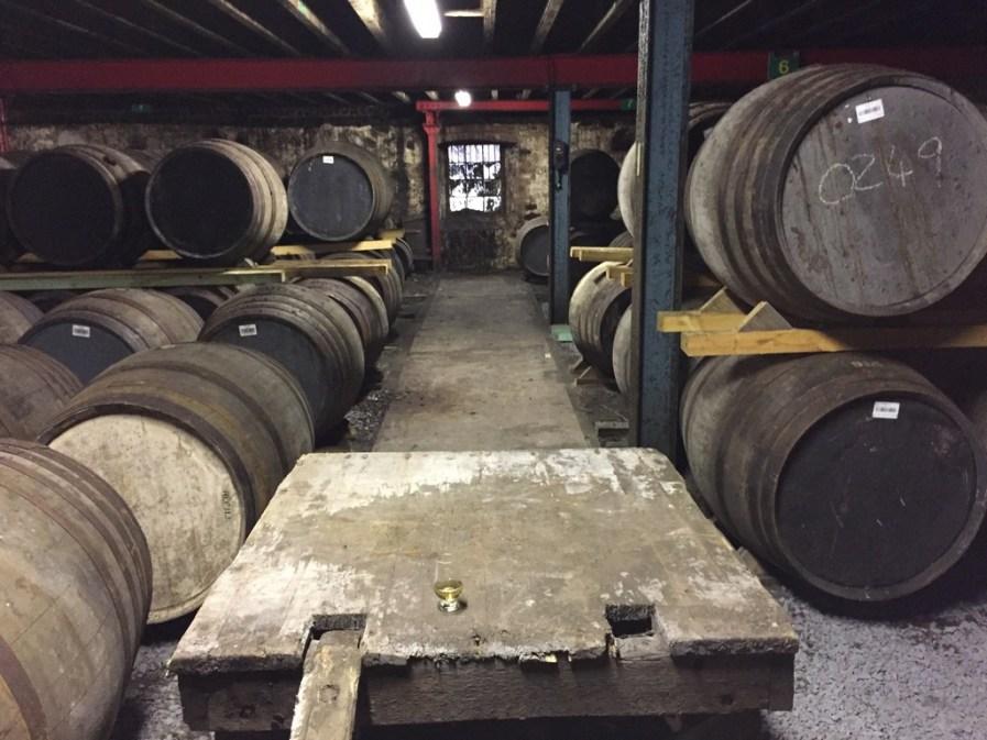 Lagavulin dunnage warehouse