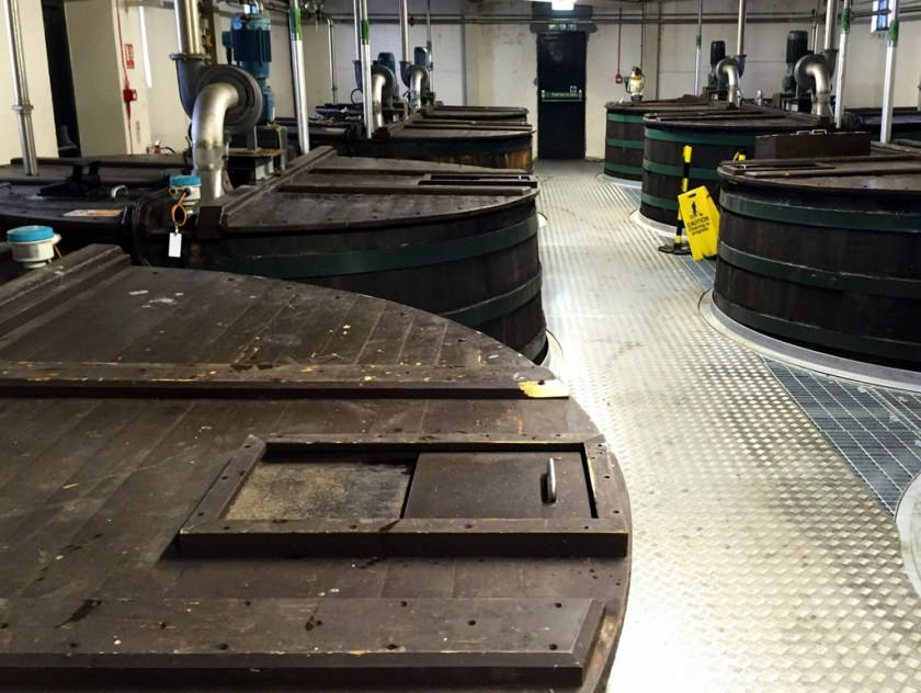 Washbacks at Lagavulin