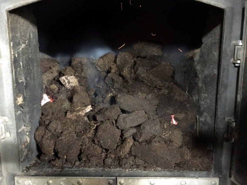 Peat burning