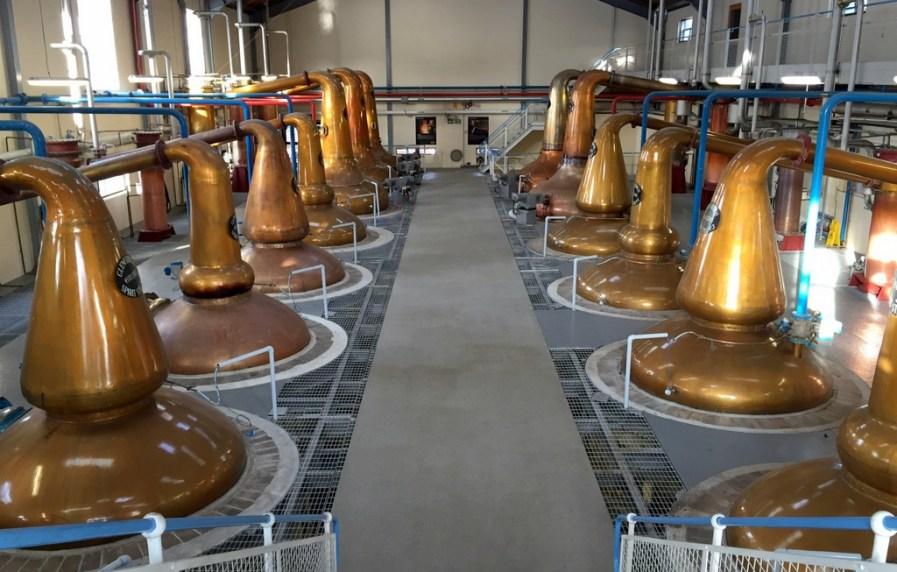 Pot stills at Glenfiddich