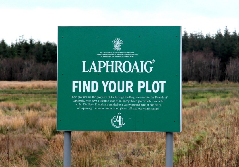 Find your plot at Laphroaig distillery