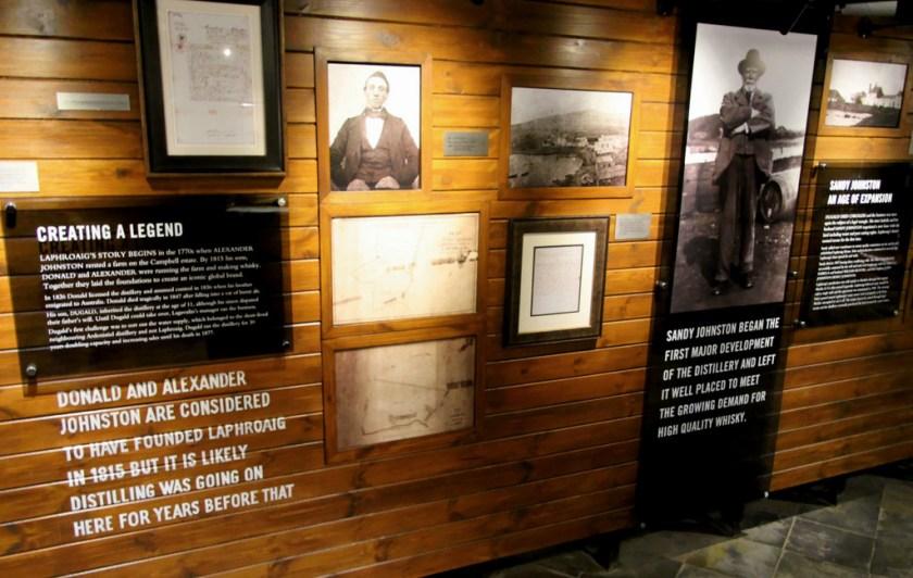 Visitor's center museum at Laphroaig distillery
