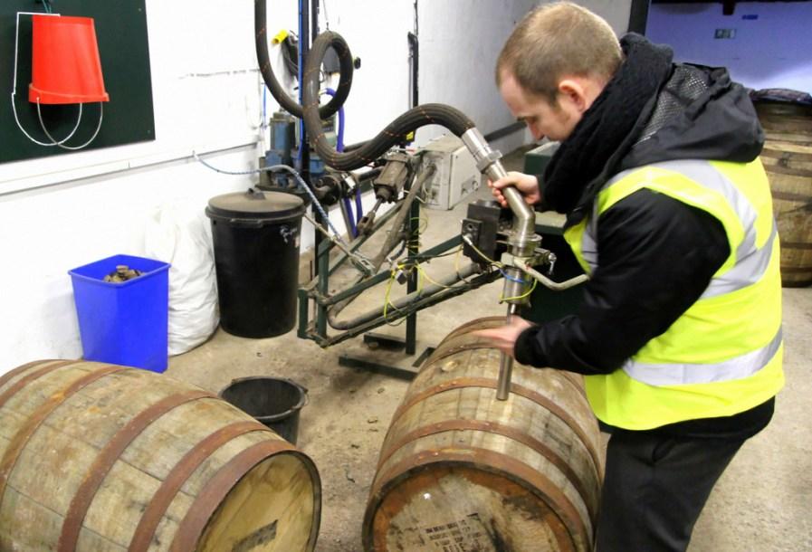 Barrel filling at Laphroaig distillery