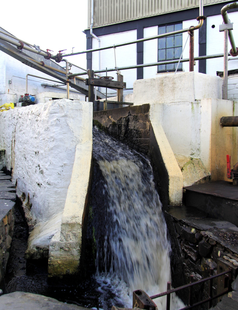 Water source coming into Bowmore distillery