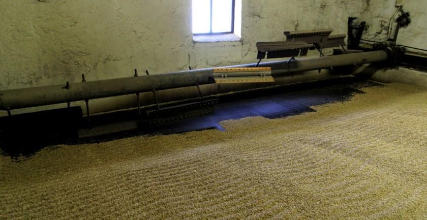Malt drying room, Bowmore distillery