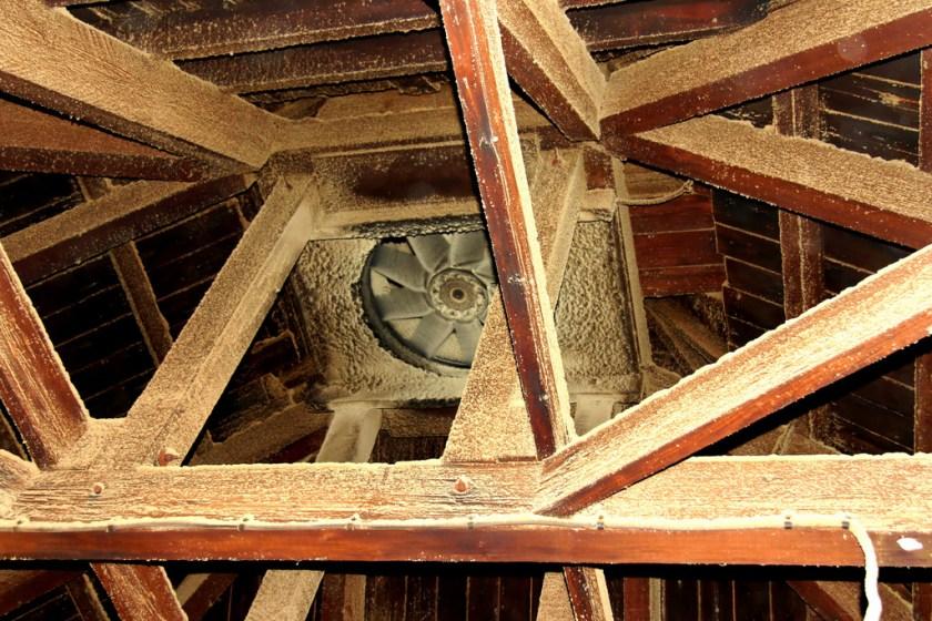 Drying room ceiling fan, Bowmore distillery