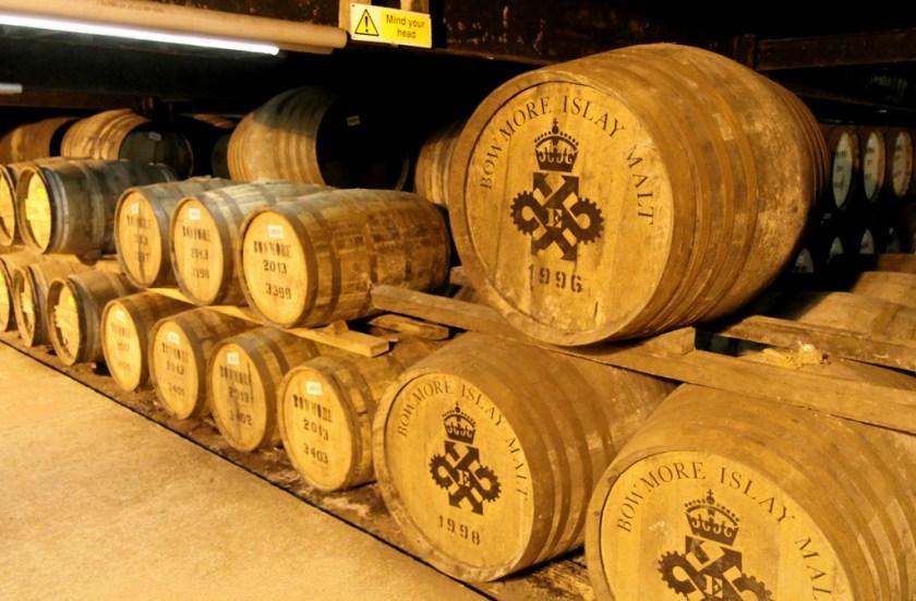 Casks in No. 1 Vault, Bowmore distillery