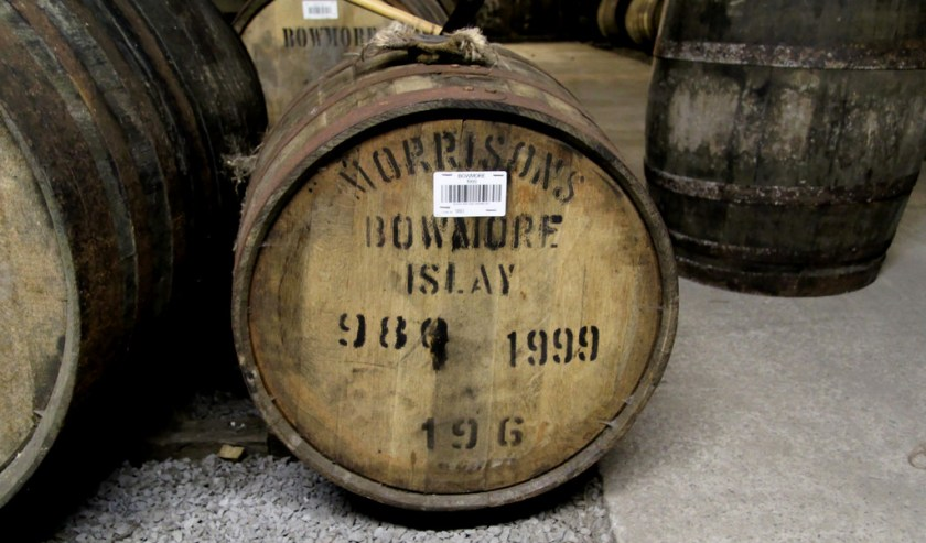 Cask in No. 1 Vault, Bowmore distillery