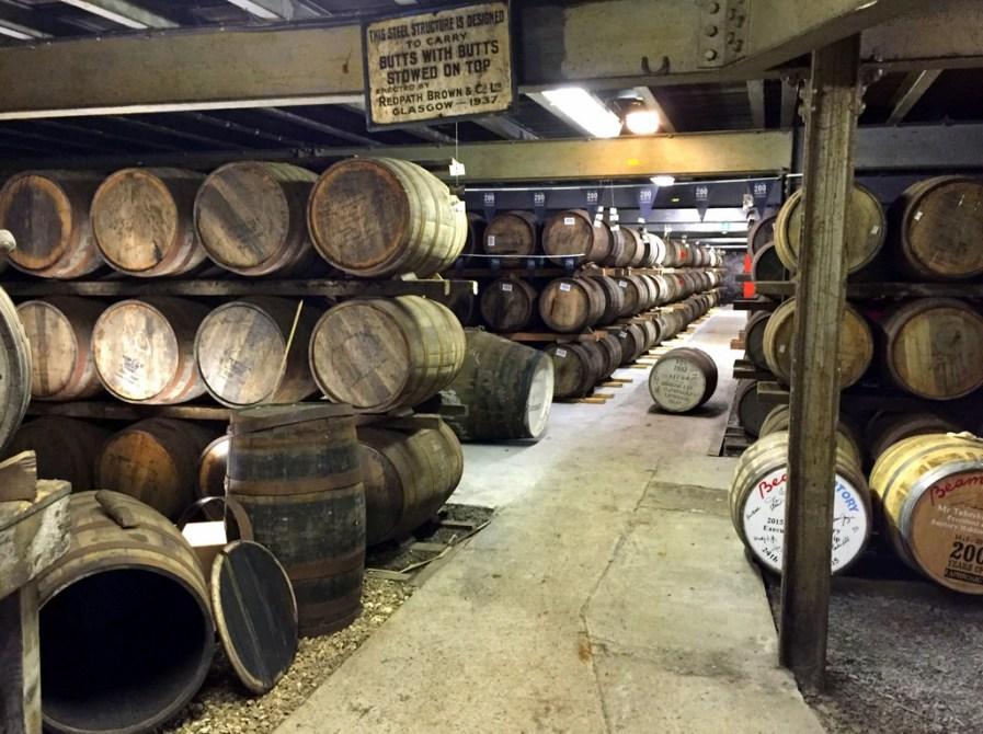 Laphroaig distillery dunnage warehouse