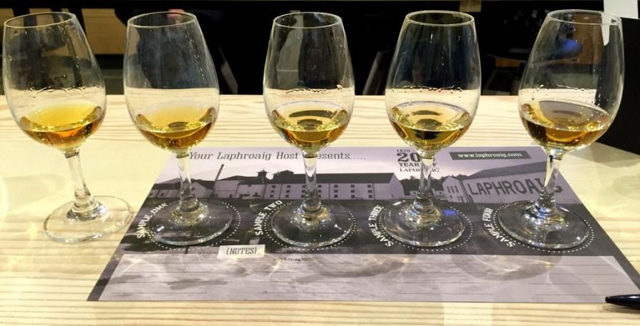 Tasting at Laphroaig distillery visitor's center