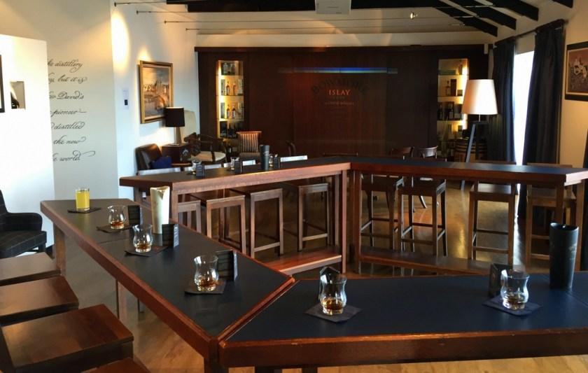 Tasting room at Bowmore distillery