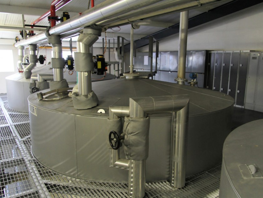 Hot liquor tanks, Glenfiddich Distillery