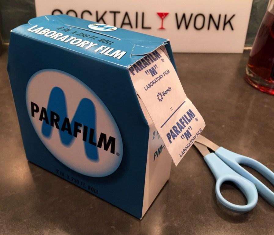 parafilm preservation of distlled spirits