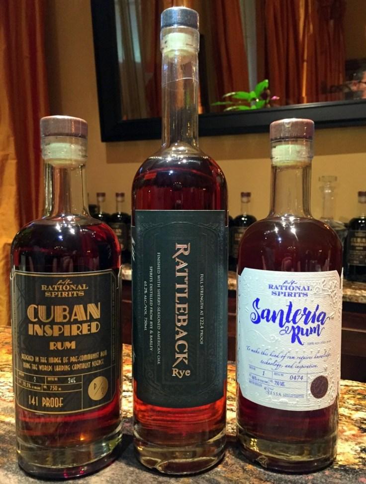 Rational Spirits Cuban Inspired & Santeria, and Rattleback Rye