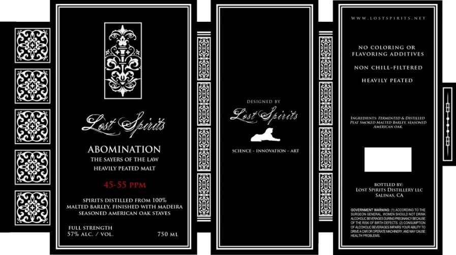 Label for Lost Spirits Abomination