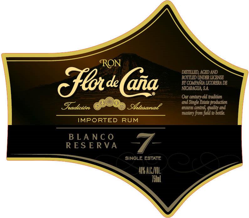 Flor de Caña label