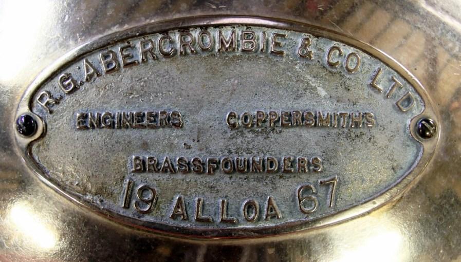 Pot still plaque, Cragganmore distillery
