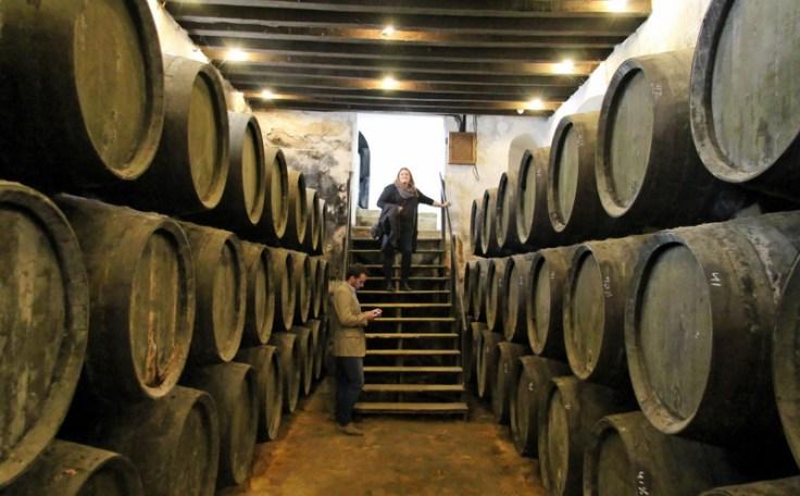 Rare underground cellar at Gonzalez Byass