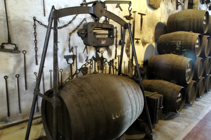 Old winemaking tools at Lustau bodega, Jerez de la Frontera