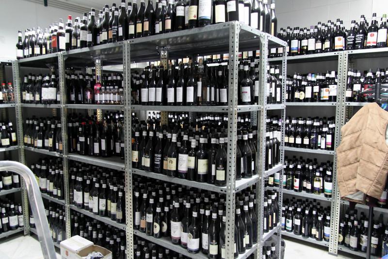 Library bottles at the Caballero lab, El Puerto de Santa María