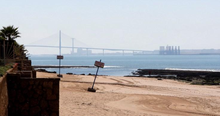 Looking towards Cádiz from El Puerto de Santa María