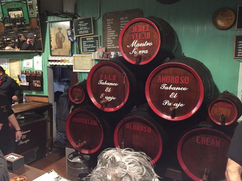Sherry casks at Tabanco El Pasaje