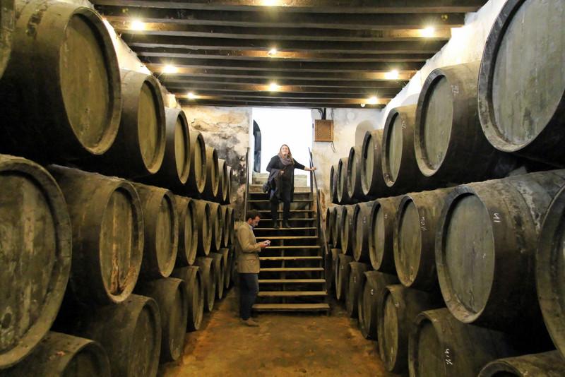 Sherry casks at González Byass