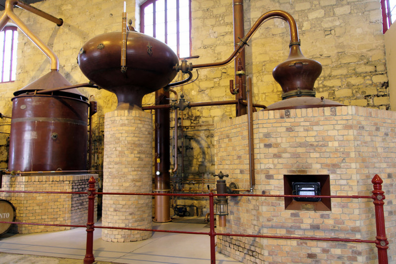 Lepanto brandy stills at González Byass