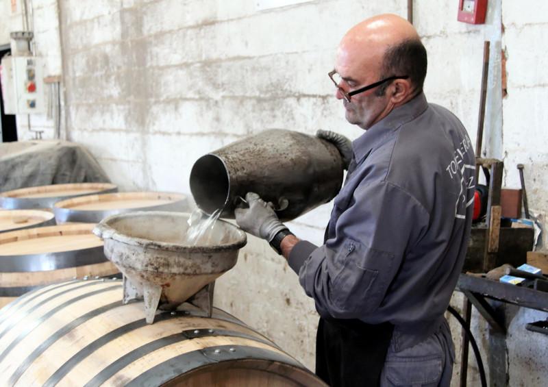 Leak testing, Antonio Páez Lobato cooperage