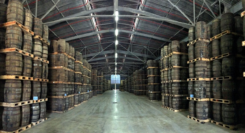 Aging warehouse, Havana Club San Jose distillery