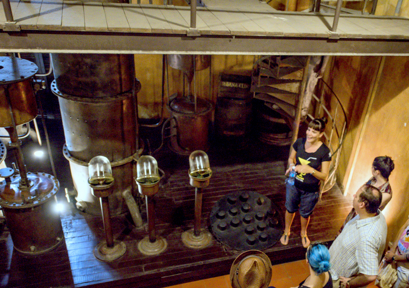 Column distillation as seen at the Museo del Ron in Havana. Photo credit: Caleb Krivoshey