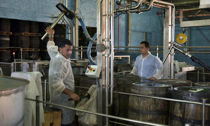 Barrel filling, Havana Club San José distillery