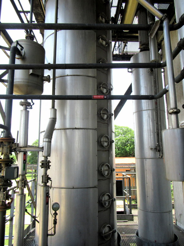 Column still, Havana Club San José distillery