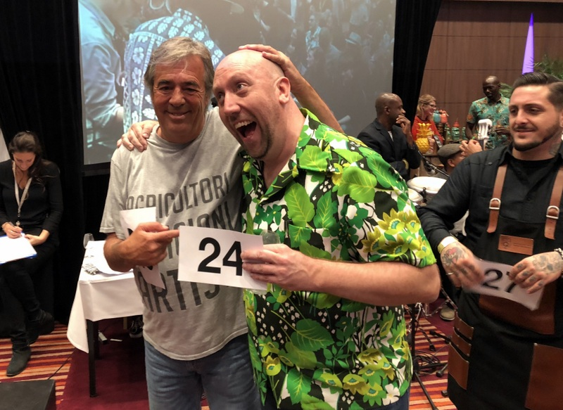 Luca Gargano and Martin Cate, Charity Rum Auction, UK RumFest 2017