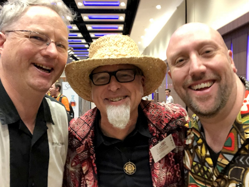 Cocktail Wonk, alongside Tiki legends Jeff and Martin, UK RumFest 2017