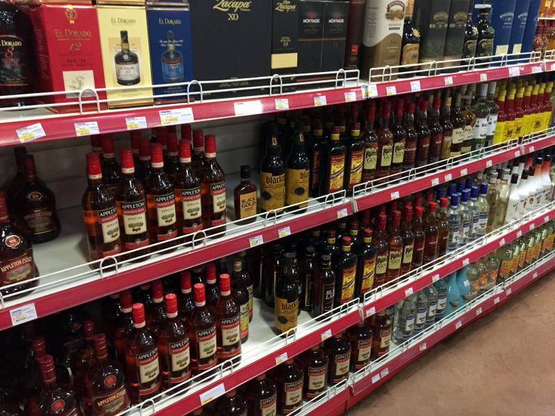 Jamaican Rum, and not-so Jamaican Rum at Mega Mart