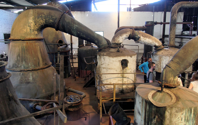 Pot stills at Long Pond, Jamaica