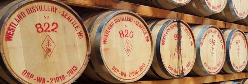 Casks at Westland Distillery, Seattle WA (photo via Rémy Cointreau )