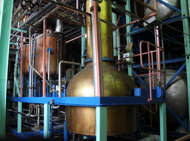Pot still, Foursquare Rum Distillery, Barbados