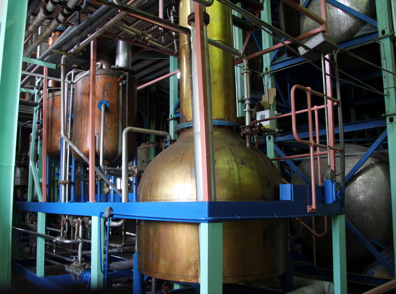 Pot still, Foursquare Rum Distillery, Barbados