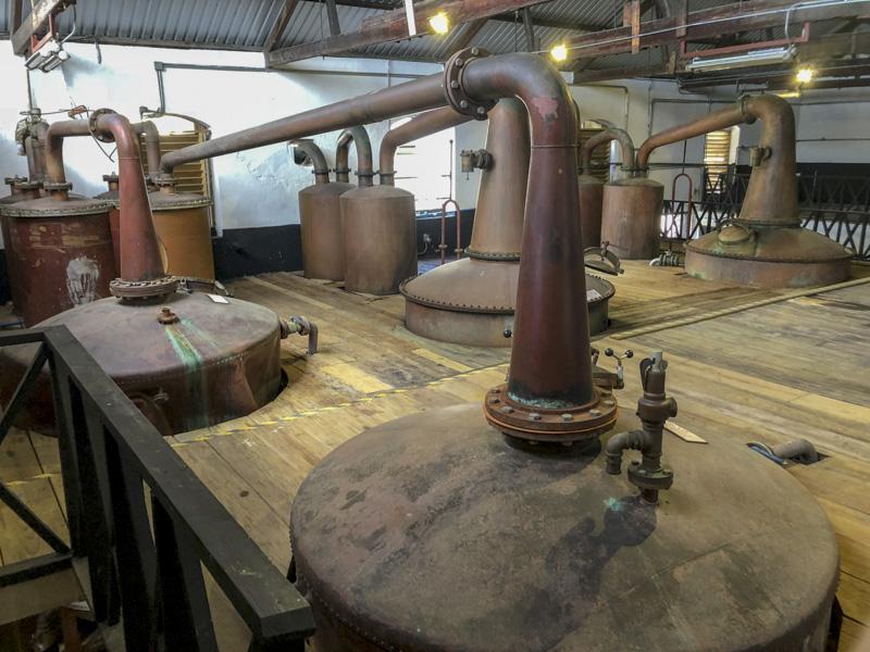 Mount Gay distillery pot stills