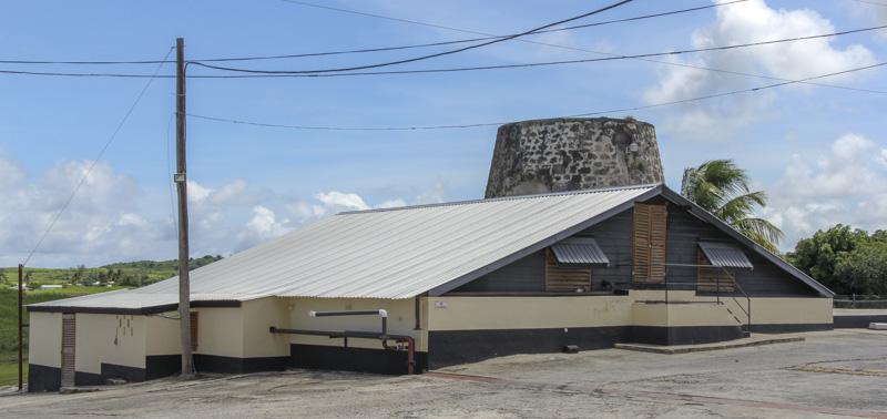 Mount Gay distillery molasses storage