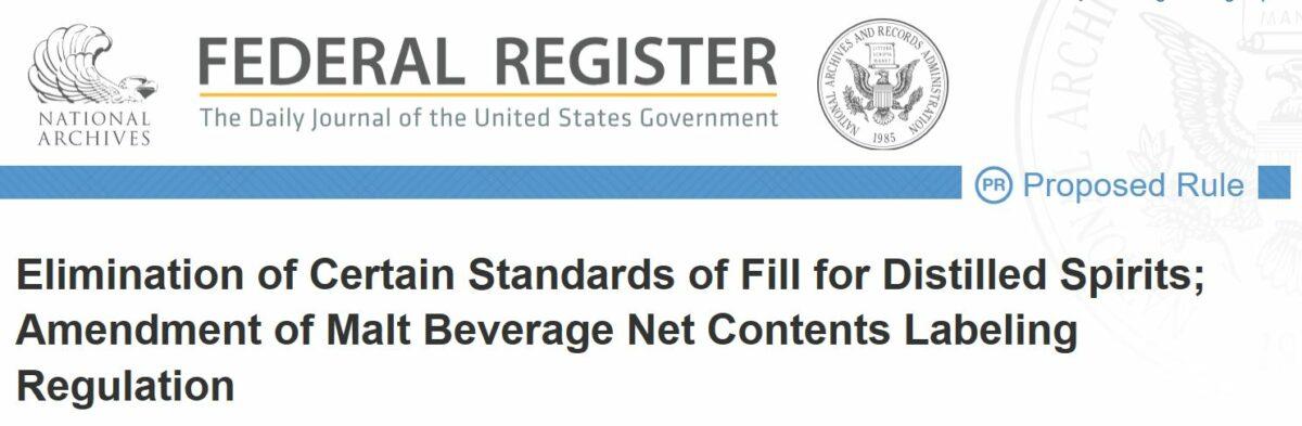 Will the U.S. Get Better International Spirits? A TTB Standards of Fill Update