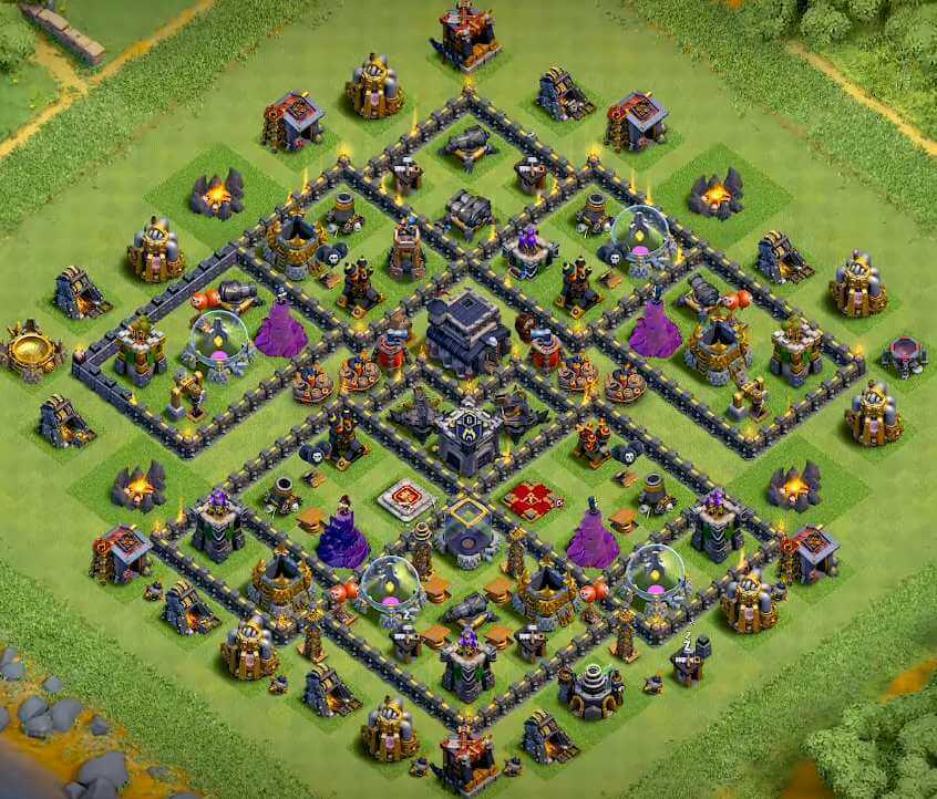BASE TROPHY COC TH 9