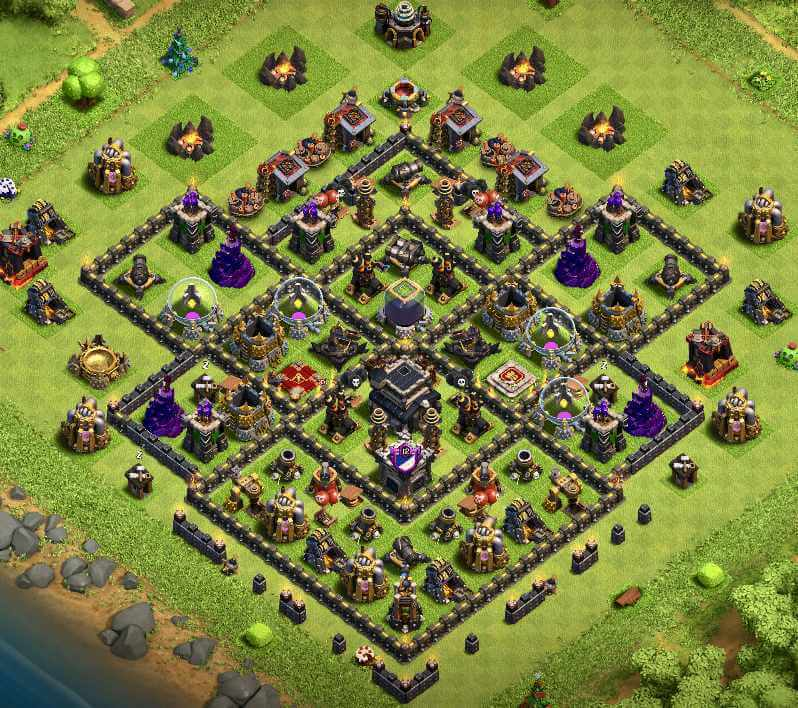 Base TROPHY TH 9 COC